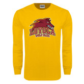 Gold Long Sleeve T Shirt-Loyola Wolf Pack
