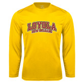 Syntrel Performance Gold Longsleeve Shirt-Loyola New Orleans Arched