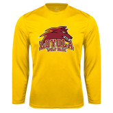 Syntrel Performance Gold Longsleeve Shirt-Loyola Wolf Pack