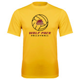 Syntrel Performance Gold Tee-Volleyball On Top