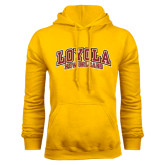 Gold Fleece Hoodie-Loyola New Orleans Arched