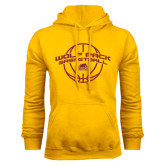 Gold Fleece Hoodie-Basketball Arched