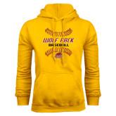 Gold Fleece Hoodie-Baseball Inside Laces