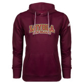 Adidas Climawarm Maroon Team Issue Hoodie-Loyola New Orleans Arched