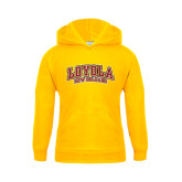Youth Gold Fleece Hoodie-Loyola New Orleans Arched