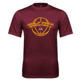 Performance Maroon Tee-Basketball Arched