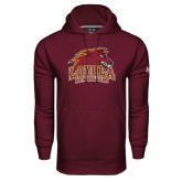 Under Armour Maroon Performance Sweats Team Hoodie-Official Logo