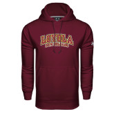 Under Armour Maroon Performance Sweats Team Hoodie-Loyola New Orleans Arched