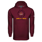 Under Armour Maroon Performance Sweats Team Hoodie-Volleyball On Top