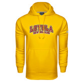 Under Armour Gold Performance Sweats Team Hoodie-Loyola New Orleans Arched