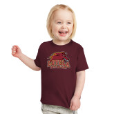 Toddler Maroon T Shirt-Official Logo