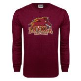 Maroon Long Sleeve T Shirt-Loyola Wolf Pack