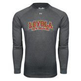 Under Armour Carbon Heather Long Sleeve Tech Tee-Loyola New Orleans Arched
