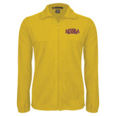 Fleece Full Zip Gold Jacket-Loyola New Orleans Arched