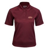 Ladies Maroon Textured Saddle Shoulder Polo-Loyola New Orleans Arched