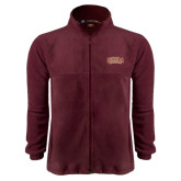 Fleece Full Zip Maroon Jacket-Loyola New Orleans Arched