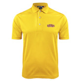Gold Dry Mesh Polo-Loyola New Orleans Arched