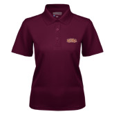 Ladies Maroon Dry Mesh Polo-Loyola New Orleans Arched