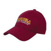 Maroon Heavyweight Twill Pro Style Hat-Loyola New Orleans Arched