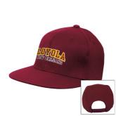 Maroon Flat Bill Snapback Hat-Loyola New Orleans Arched