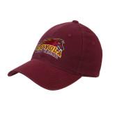 Maroon Flexfit Mid Profile Hat-Official Logo