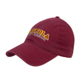Maroon Twill Unstructured Low Profile Hat-Loyola New Orleans Arched