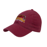 Maroon Twill Unstructured Low Profile Hat-Loyola Wolf Pack