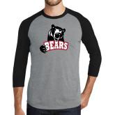 Grey/Black Tri Blend Baseball Raglan-Bears
