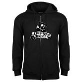 Black Fleece Full Zip Hoodie-LR Bear