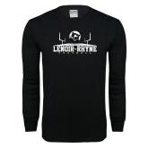 Black Long Sleeve T Shirt-Football Field