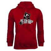 Cardinal Fleece Hoodie-LR Bear