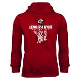 Cardinal Fleece Hoodie-Basketball Hanging Net