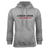 Grey Fleece Hoodie-Lenoir Rhyne University