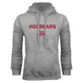 Grey Fleece Hoodie-Go Bears