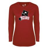 Ladies Syntrel Performance Cardinal Longsleeve Shirt-Bears