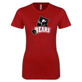 Next Level Ladies SoftStyle Junior Fitted Cardinal Tee-Bears