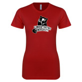 Next Level Ladies SoftStyle Junior Fitted Cardinal Tee-LR Bear