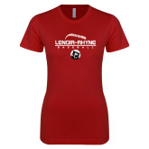 Next Level Ladies SoftStyle Junior Fitted Cardinal Tee-Baseball Thread