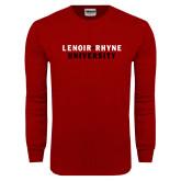 Cardinal Long Sleeve T Shirt-Lenoir Rhyne University