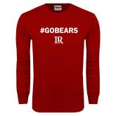 Cardinal Long Sleeve T Shirt-Go Bears