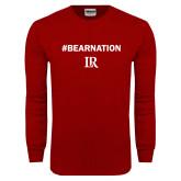 Cardinal Long Sleeve T Shirt-Bear Nation