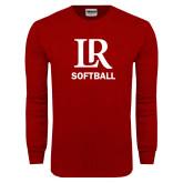 Cardinal Long Sleeve T Shirt-Softball