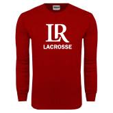 Cardinal Long Sleeve T Shirt-Lacrosse