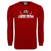 Cardinal Long Sleeve T Shirt-Football Field