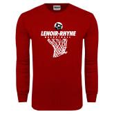 Cardinal Long Sleeve T Shirt-Basketball Hanging Net