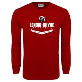 Cardinal Long Sleeve T Shirt-Softball Plate