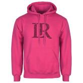 Fuchsia Fleece Hoodie-LR Hot Pink Glitter