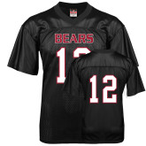 Replica Black Adult Football Jersey-#12
