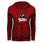 ENZA Ladies Cardinal Fleece Full Zip Hoodie-Bears
