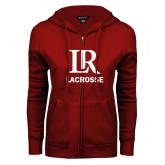 ENZA Ladies Cardinal Fleece Full Zip Hoodie-Lacrosse